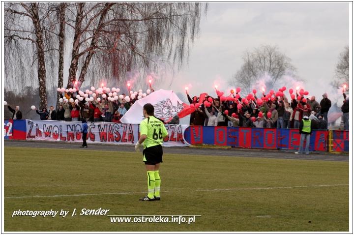 Oprawa meczowa, która zajęła 3. miejsce w konkursie opraw mazowieckich kibiców za sezon 2006/07. fot. J.Sender